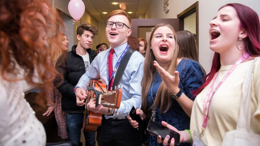 Song sessions, dancing and art workshops are part of the three-day American Jewish Joint Distribution Committee's (JDC) sixth annual Active Jewish Teens (AJT) Conference in Liev from Nov. 7-10, 2019, as they were last year (pictured). Credit: JDC.