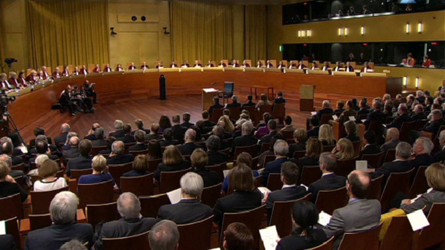 A hearing inside the European Court of Justice. Source: European Court of Justice via Twitter.