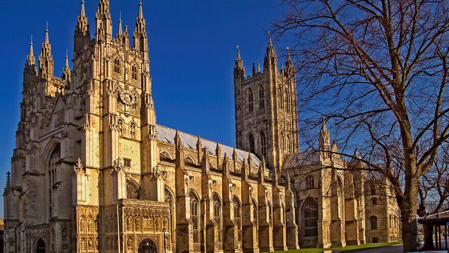 The Canterbury Cathedral, home of the Archbishop of Canterbury, the head of the Church of England. Source: Wikimedia Commons.