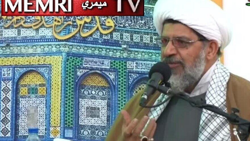 Senior Iranian cleric Ali Shirazi, the representative of Iran's Supreme Leader Ali Khamenei in the Islamic Revolutionary Guard Corps Quds Force. (MEMRI)