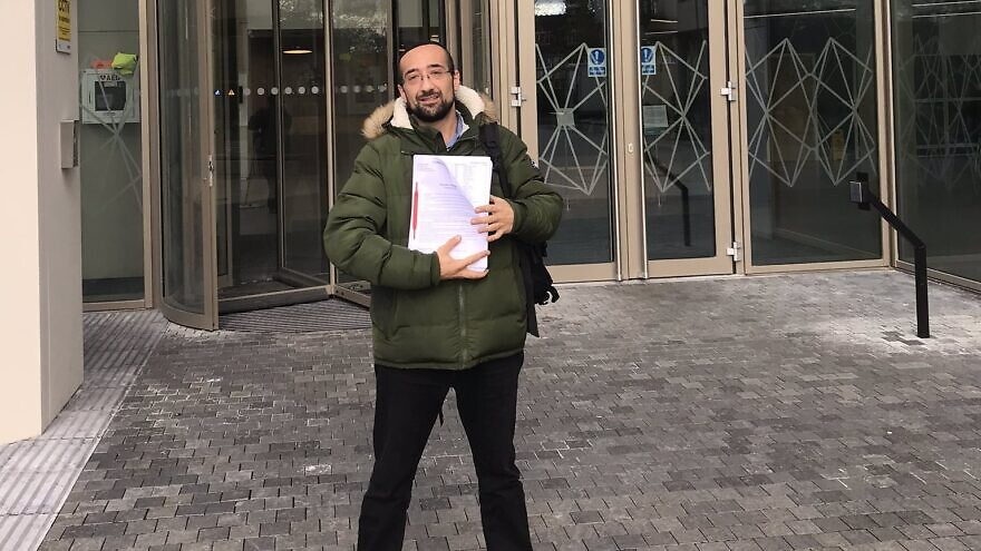 Yosef David has filed papers to challenge British Labour Party leader Jeremy Corbyn in the United Kingdom's general elections on Dec. 12, 2019. Source: Twitter.