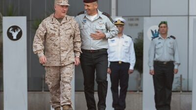 U.S. CENTCOM commander Gen. Kenneth F. McKenzie Jr. walking with IDF Chief of Staff LTG Aviv Kohavi. Credit: IDF Spokesperson's Unit.
