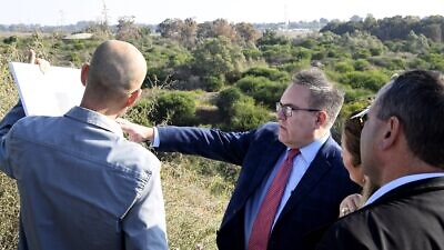 U.S. Environmental Protection Agency administrator Andrew Wheeler visits the Nof Yam remediation site in Israel on Nov. 18, 2019. Credit: EPA Administrator Andrew Wheeler/Twitter.