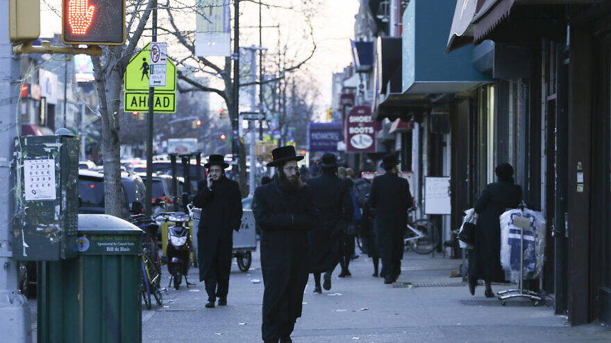 Street view of the mainly ultra-Orthodox neighborhood of Borough Park in Brooklyn, N.Y., on Jan. 1, 2014. Photo by Nati Shohat/Flash 90.