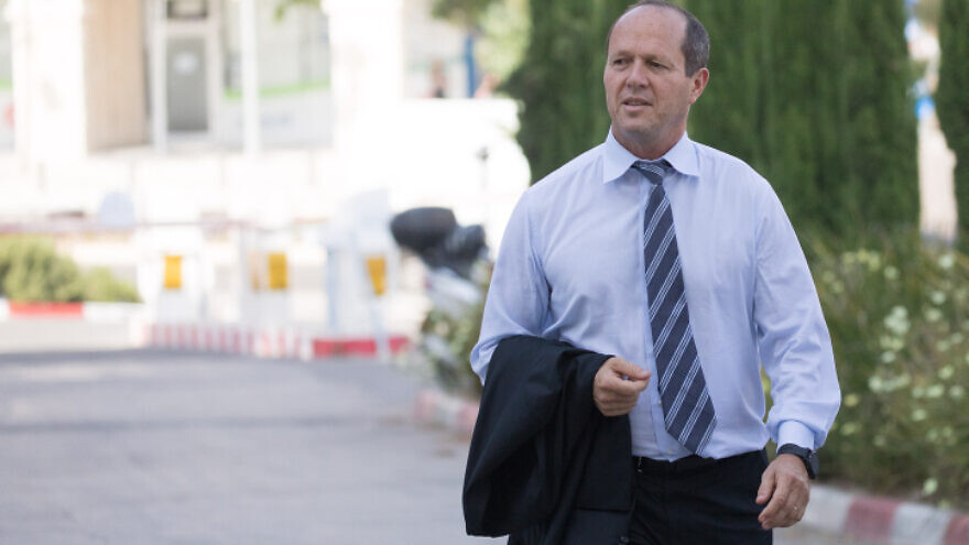 Likud member and former mayor of Jerusalem Nir Barkat arrives at a Likud Party meeting on May 28, 2019, in Jerusalem. Photo by Yonatan Sindel/Flash90.