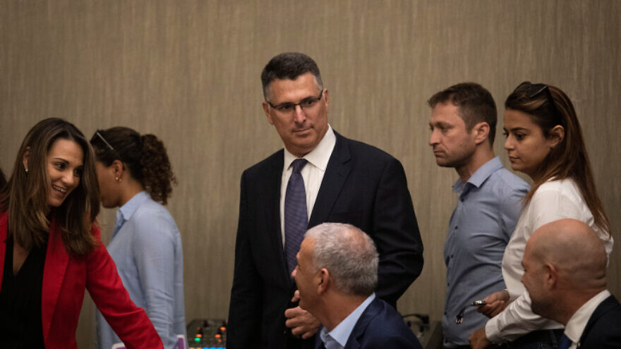Likud member Gideon Sa'ar at a Likud Party faction meeting in Jerusalem, following the election results, Sept. 18, 2019. Photo by Hadas Parush/Flash90.