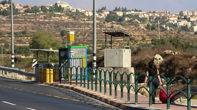 The Eliezer Junction in Gush Etzion, West Bank, on Sept. 29, 2019. Photo by Gershon Elinson/Flash90.