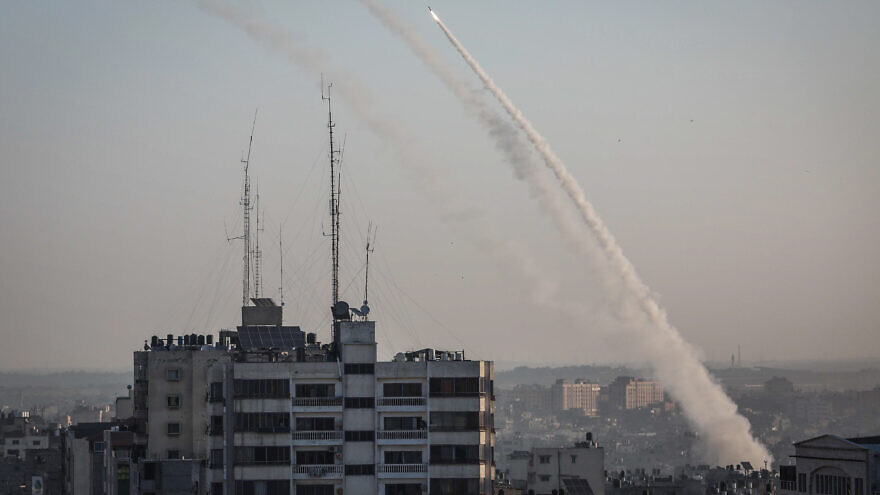 Rockets fired from Gaza into Israel followed the targeted killing of Palestinian Islamic Jihad field commander Baha Abu al-Ata by an Israeli airstrike on Nov. 12, 2019. Photo by Hassan Jedi/Flash90.