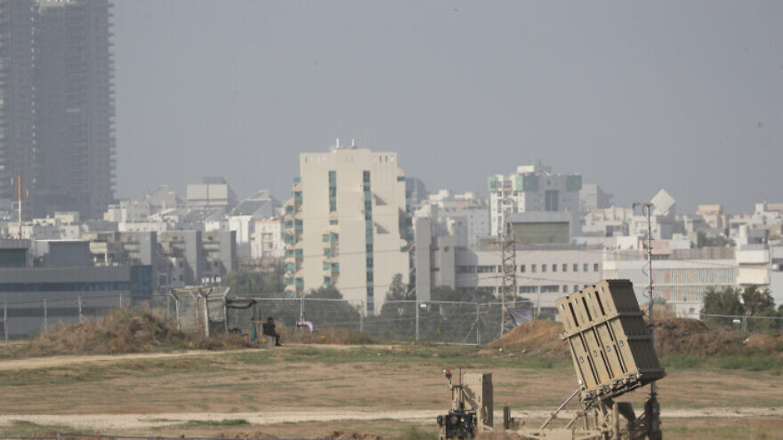 An Iron Dome air-defense battery in southern Israel near the border with the Gaza Strip on Nov. 13, 2019. Photo by Yonatan Sindel/Flash90.