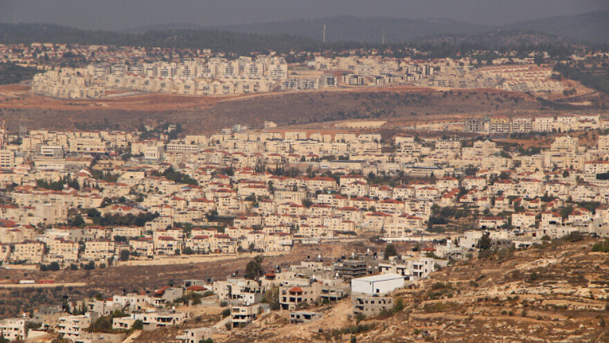 A view of Beitar Illit and Tzur Hadassah, as seen from Gush Etzion in Judea and Samaria, on Nov. 25, 2019. Photo by Gershon Elinson/Flash90.