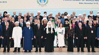 Attendees of the Baku Summit of World Religious Leaders in Azeribaijan on Nov. 14, 2019. Credit: Courtesy.