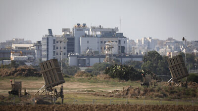 Iron Dome anti-missile batteries installed in the southern Israeli city of Ashkelon to protect lives and homes after Israel targeted and killed Palestinian Islamic Jihad field commander Baha Abu al-Ata on Nov. 12, 2019. Photo by Noam Rivkin Fenton/Flash90.