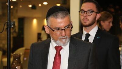 Israeli Minister of Religious Services Yitzhak Vaknin. Photo by Pierre Lavi.