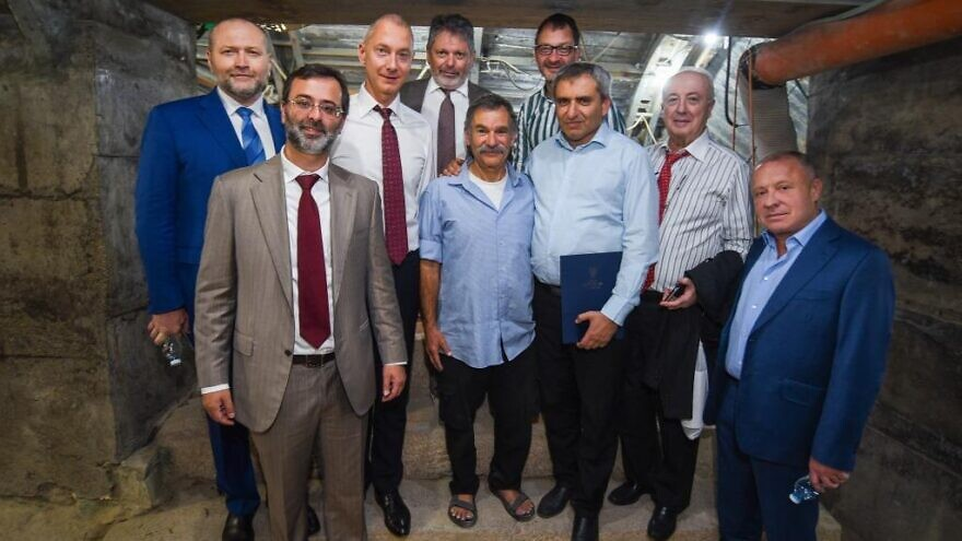 Israel's Minister for Jerusalem Affairs Ze'ev Elkin welcomed a delegation of the Jewish Confederation of Ukraine (JCU), comprised of 25 individuals, to Israel on Nov. 11, 2019. Photo by Gal Yasenkov.