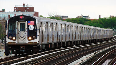 A New York City subway train. Source: Wikimedia Commons.