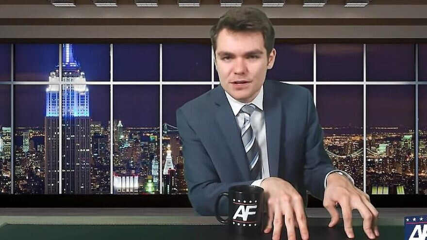 Nick Fuentes, a 21-year-old YouTube personality and white nationalist. Source: Screenshot.