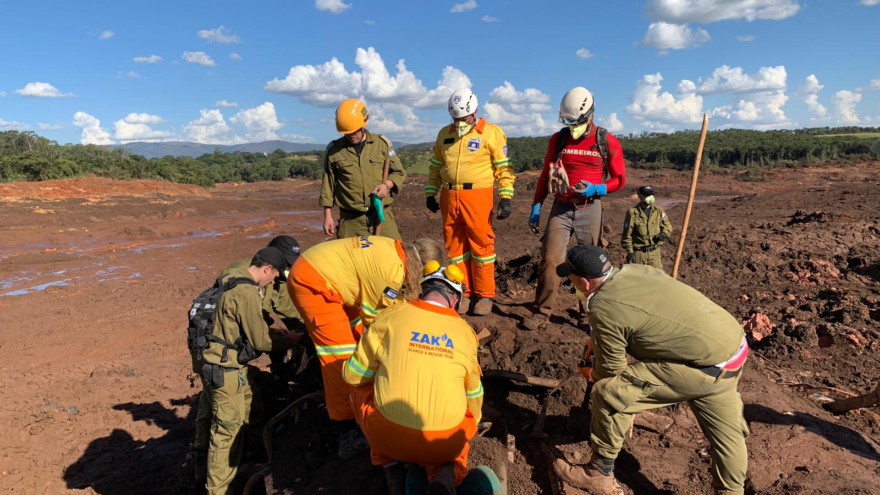 ZAKA emergency-rescue team and medical personnel at work at a disaster site. Credit: Courtesy.