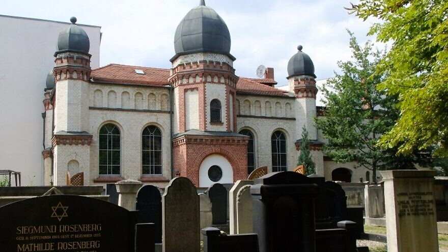 A view of the synagogue in Halle, Germany, which was attacked during Yom Kippur services by a far-right extremist on Oct. 9, 2019. Source: Stadt Marketing.