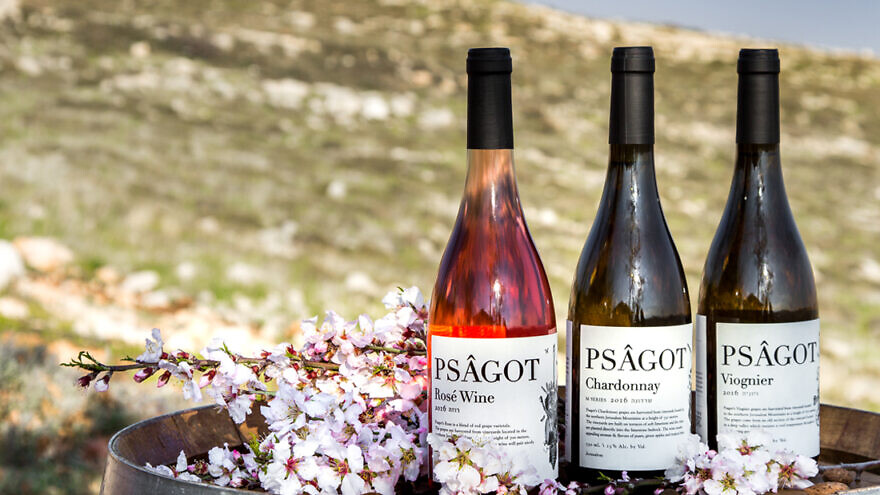 A display of wines from Israel's Psagot Winery, which is at the center of a European court ruling on labeling of Israeli products from beyond the pre-1967 Green Line. Source: Psagot Winery.