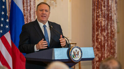 U.S. Secretary of State Mike Pompeo holds a joint press availability with Russian Foreign Minister Sergey Lavrov, at the Department of State in Washington, D.C., on Dec. 10, 2019. Credit: State Department. Photo by Ron Przysucha/Public Domain.