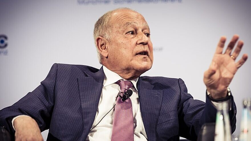 Arab League Secretary-General Ahmed Aboul-Gheit speaks at the 2019 Munich Security Conference in Munich, Germany, on Feb. 17, 2019. Photo: Kuhlmann/ MSC via Wikimedia Commons.