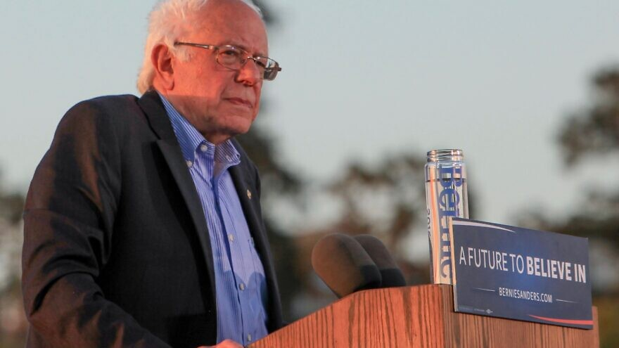 Vermont Sen. Bernie Sanders at a campaign rally in Vallejo, Calif., May 18, 2016, Credit: Shelly Prevost via Wikimedia Commons.