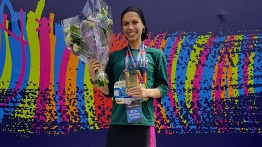 "Marathon runner Bracha ""Beatie"" Deutsch. Source: https://beatiedeutsch.com/."