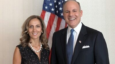 U.S. Deputy Special Envoy for Monitoring and Combating Anti-Semitism Ellie Cohanim, and U.S. Special Envoy for Monitoring and Combating Anti-Semitism Elan Carr. Credit: U.S. Envoy to Monitor and Combat Anti-Semitism/Twitter.