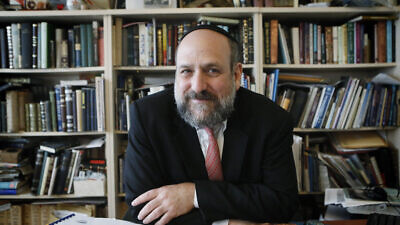 Portrait of Chief Rabbi of Poland Michael Schudrich in his office in Warsaw on Sept. 25, 2013. Photo by Miriam Alster/Flash90.