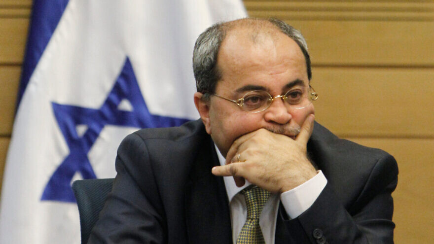 Knesset member Ahmad Tibi attends a meeting of the opposition at the Knesset on March 11, 2014. Photo by Miriam Alster/Flash90.