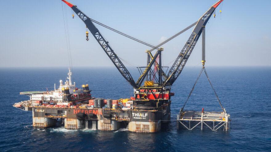 Israel's Leviathan gas-processing rig near the Israeli city of Caesarea, Jan. 31, 2019. Photo by Marc Israel Sellem/POOL.