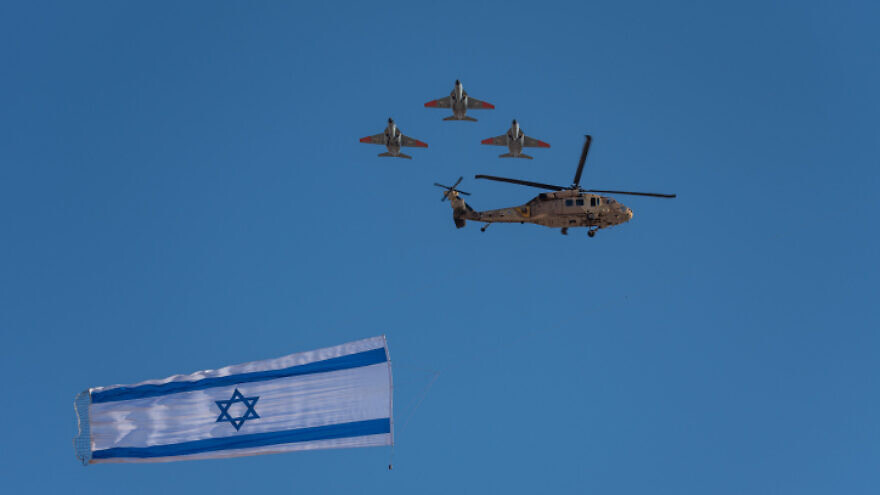 An Israel Air Force graduation ceremony at the Hatzerim Air Base in the Negev desert, June 27, 2019. Photo by Mila Aviv/Flash90.