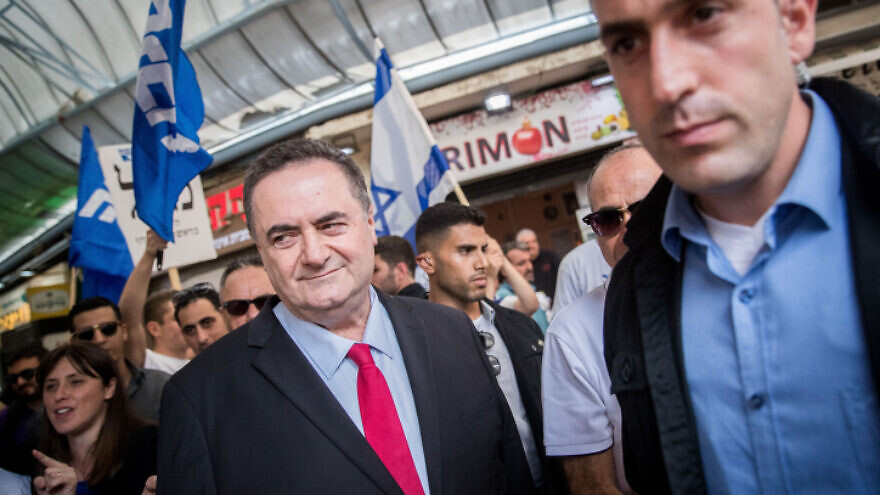 Israel's Foreign Minister Israel Katz is seen during a Likud Party election campaign tour in Jerusalem on Sept. 16, 2019. Photo by Yonatan Sindel/Flash90.