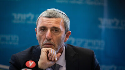 Jewish Home Party chairman Rafi Peretz at faction meeting at the Knesset in Jerusalem, on Nov. 11, 2019. Photo by Hadas Parush/Flash90.