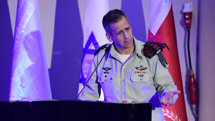 IDF Chief of Staff Lt. Gen. Aviv Kochavi at a ceremony for outstanding soldiers in the IDF Technology Unit, at the Glilot army base, on Dec. 02, 2019.  Photo by Tomer Neuberg/Flash90.