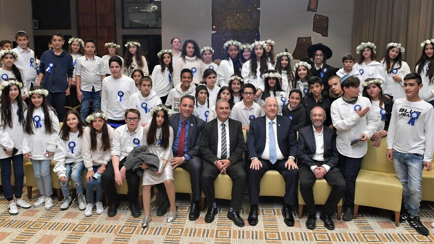 Israel's President Reuven Rivlin hosted an annual bar and bat mitzvah event for children who have been injured in terrorist attacks, complete with a performance by 2018 Eurovision Song Contest winner Netta Barzilai, Dec. 19, 2019, Photo by Kobi Gideon/GPO.