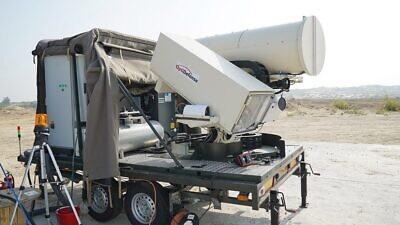 Israel's Light Blade laser-defense system. Credit: Israel Police.