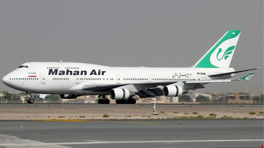 A Mahan Air Boeing 747-400. Credit: Konstantin von Wedelstaedt via Wikimedia Commons.