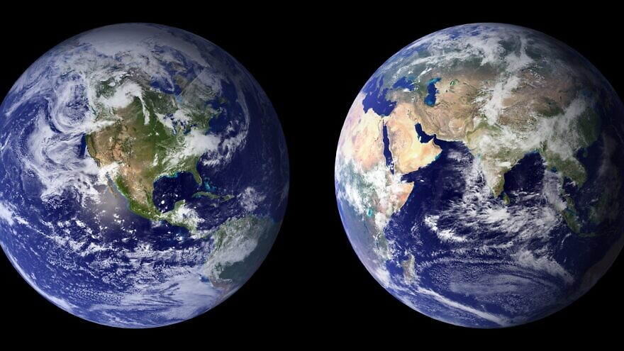 Some 70 percent of the Earth's surface is covered by ocean, the home to marine life. Credit: NASA via Wikimedia Commons.