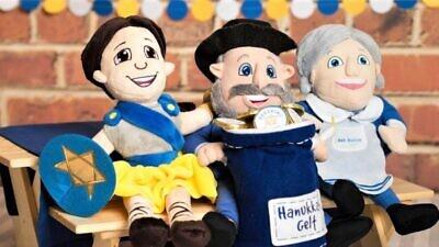 "The stuff ""mensch"" toys bring a Hanukkah message Courtesy of themenschonabench.com."