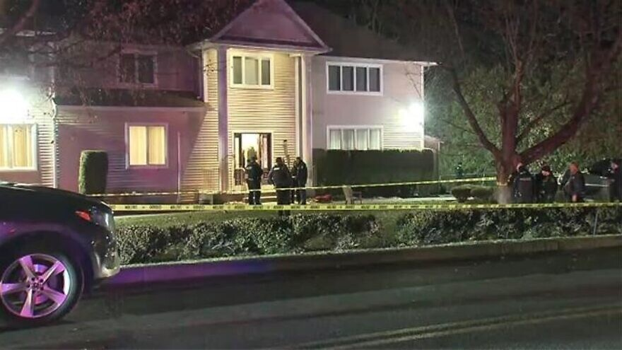 The home of Rabbi Chaim L. Rottenberg in the Forshay neighborhood in Monsey, N.Y., where a stabbing took place on Dec. 28, 2019,  the seventh night of Hanukkah. Credit: Chabad.org/News.