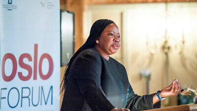 International Criminal Court chief prosecutor Fatou Bensouda speaks at the Oslo Forum in 2014. Photo: Stine Merethe Eid via Wikimedia Commons.