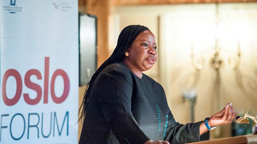 International Criminal Court chief prosecutor Fatou Bensouda speaks at the Oslo Forum in 2014. Credit: Stine Merethe Eid via Wikimedia Commons.