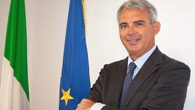 Italian Ambassador to Israel Gianluigi Benedetti. Credit: Courtesy.