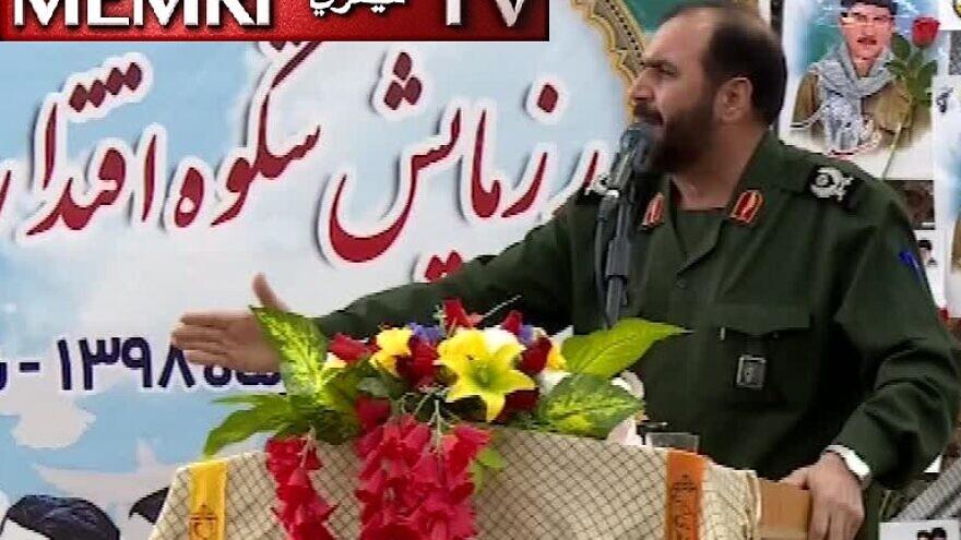 Islamic Revolutionary Guard Corps Gen. Allahnoor Noorollahi, a top adviser to the commander of the IRGC Officers College, speaks on Iranian TV on Nov. 29, 2019. (MEMRI)