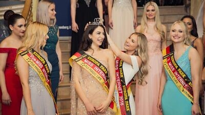 Tamar Morali, the first German Jewish winner of Miss Internet, January 2018. Source: Twitter.
