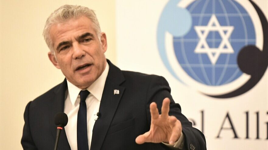 Blue and White Party No. 2 speaks at the Israel Allies Foundation's annual Chairman's Conference., Dec. 9, 2019. Photo by Avi Hayun.