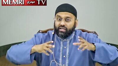 American Islamic scholar Sheikh Yasir Qadhi. (MEMRI)