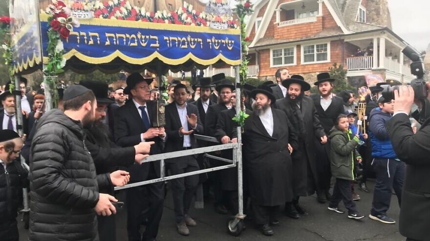 Members of the Monsey Jewish community show solidarity following an anti-Semitic attack on Dec. 28, 2019. Source: Screenshot.