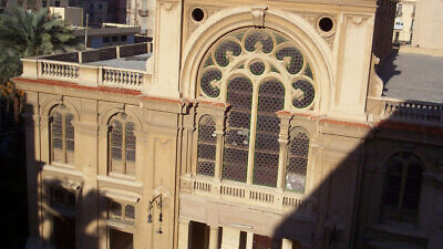 The Eliyahu Hanavi Synagogue on Nabi Daniel Street in Alexandria, Egypt. Credit: Wikipedia.
